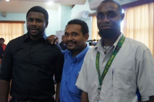 Media friends during the health consultative workshop in Lae