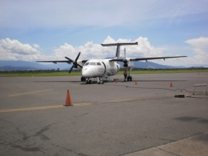 Daily commercial flight (Airlines PNG) at Nadzab Airport, Lae